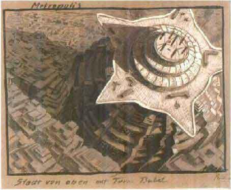 Erich Kettelhut Metropolis Sketch