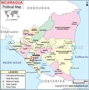 nicargua-political-map