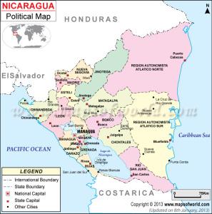 nicargua-political-map