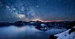 Milky Way above Crater Lake, Oregon