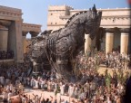 "The Trojan Horse stands inside the city of Troy in Warner Bros. Pictures' epic action adventure ""Troy,"" starring Brad Pitt, Eric Bana and Orlando Bloom. PHOTOGRAPHS TO BE USED SOLELY FOR ADVERTISING, PROMOTION, PUBLICITY OR REVIEWS OF THIS SPECIFIC MOTION PICTURE AND TO REMAIN THE PROPERTY OF THE STUDIO. NOT FOR SALE OR REDISTRIBUTION."