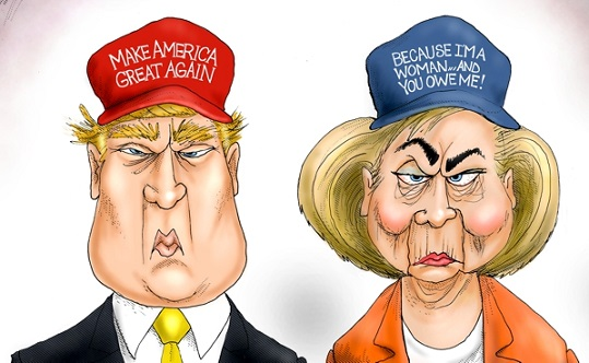 Branco-Trump-and-Hillary