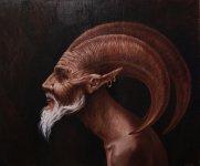 traditional_art___satyr_by_mewannalearn-d2yd429
