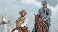 Mandatory Credit: Photo by PHAS/Universal Images Group/REX/Shutterstock (2561036a) 'The Ingenious Hidalgo Don Quixote of La Mancha'. Conversations between Don Quixote and Sancho Panza after the adventure of the windmills History