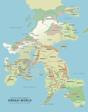 Drenai-world-map